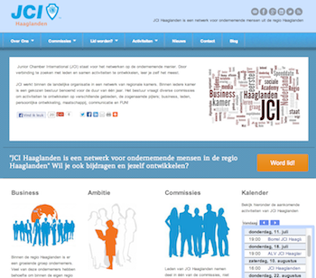 JCI Haaglanden 2012 website